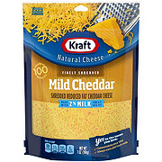 Kraft Natural 2% Milk Reduced Fat Mild Cheddar Finely Shredded Cheese