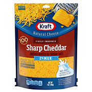 Kraft Natural 2% Milk Sharp Cheddar Reduced Fat Finely Shredded Cheese