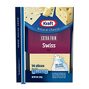 Kraft Natural Extra Thin Swiss Cheese Slices