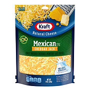 Kraft Natural Mexican Style Cheddar Jack Finely Shredded Cheese