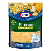 Kraft Natural Mexican Style Four Cheese Finely Shredded Cheese