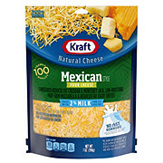 Kraft Natural Reduced Fat 2% Milk Shredded Mexican Style Four Cheese