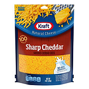 Kraft Sharp Cheddar Cheese, Shredded