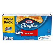 Kraft Singles American Cheese, Slices, Twin Pack