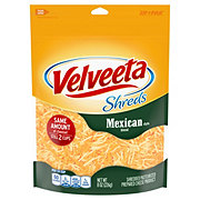 Kraft Velveeta Shreds Mexican Style Cheddar Cheese, Shredded