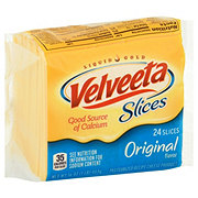 Kraft Velveeta Slices Pasteurized Prepared Original Flavor Cheese