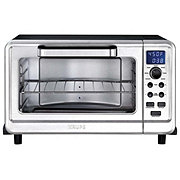 Krups 6-Slice Convection Stainless Steel Toaster Oven with Digital Controls