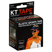 KT Tape Elastic Original Precut Black Strips Sports Tape