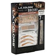 L.A. Colors Ready Set Brow Kit Light / Medium