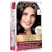 L'Oréal Paris Excellence Créme Permanent Hair Color, 2.0 Soft Black