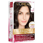L'Oreal Paris Excellence Créme Permanent Hair Color, 3 Natural Black