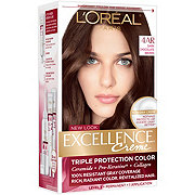 L'Oreal Paris Excellence Creme Level 3 Permanent 4AR Dark Chocolate Brown Warmer Velvet Brown Triple Protection Color Creme