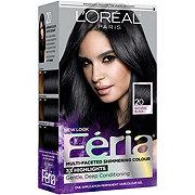 L'Oreal Paris Feria  20 Natural Black Multi-Faceted Shimmering Colour 3X Highlights Blonde Permanent Haircolor Gel