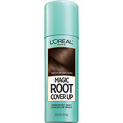 L'Oreal Paris Magic Root Cover Up Gray Concealer Spray, Medium Brown