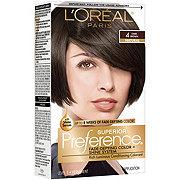 L'Oreal Paris Superior Preference Permanent Hair Color, 4 Dark Brown