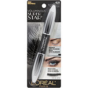 L'Oreal Paris Voluminous Superstar Washable Mascara, Blackest Black