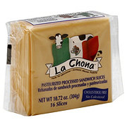 La Chona Pasteurized Processed Sandwich Cheese Slices