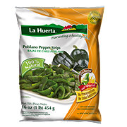 La Huerta Poblano Pepper Strips