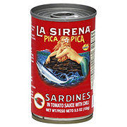 La Sirena Pica Pica Sardines in Tomato Sauce with Chili