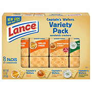 Lance Captain's Wafers Cracker Sandwiches Variety Pack