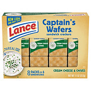 Lance Captain's Wafers Cream Cheese & Chives Cracker Sandwiches