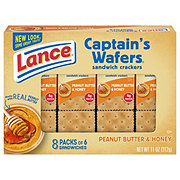 Lance Captain's Wafers Peanut Butter & Honey Cracker Sandwiches