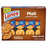 Lance Malt Real Peanut Butter Cracker Sandwiches