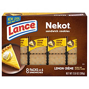 Lance Nekot Lemon Creme Cookie Sandwiches