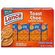 Lance Toast Chee Peanut Butter Cracker Sandwiches