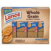 Lance Whole Grain Peanut Butter Cracker Sandwiches