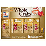 Lance Whole Grain Real Cheddar Cheese Cracker Sandwiches