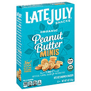 Late July Organic Bite Size Mini Peanut Butter Sandwich Cracker