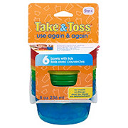 Learning Curve Take & Toss Bowls and Lids 8 OZ