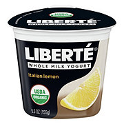 Liberte Organic Lemon Yogurt