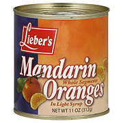 Lieber's Whole Segments in Light Syrup Mandarin Oranges