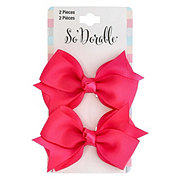 Lil' Duds Fashion Bow Clippies- Fuchsia