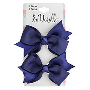 Lil' Duds Fashion Bow Clippies- Navy
