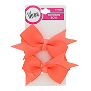 Lil' Duds Fashion Bow Clippies- Neon Orange