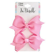 Lil' Duds Fashion Bow Clippies- Pink