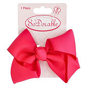 Lil' Duds Fashion Bow- Dark Pink