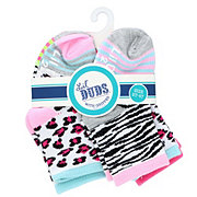 Lil' Duds Ankle Socks, Animal Print with Grip, 2-4t