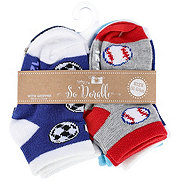 Lil' Duds Ankle Socks with Grip, 12-24m