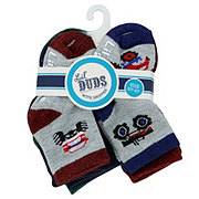 Lil' Duds Ankle Socks with Grip, 2-4t