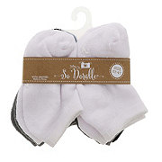 Lil' Duds Baby No Show Socks With Gripper, 6 PK