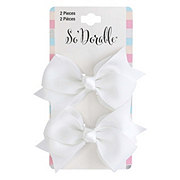 Lil' Duds Fashion Bow Clippies- White