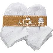 Lil' Duds No Show White Socks, 6 PK