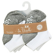 Lil' Duds White/Gray, 6 PK