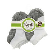 Lil' Duds White/Grey Socks, 2-4 T