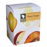 Lindsay's Teas Organic Black Green & Yerba Tea Peach Ginger Pyramid Bags