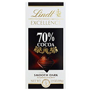 Lindt Excellence Smooth Dark Chocolate Bar 70% Cocoa